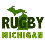 Rugby Michigan White Logo